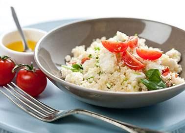 Basilikum-Couscous-Salat