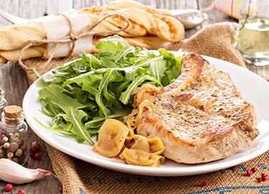 Rezepte-fleisch-schweinemedaillons Rucola