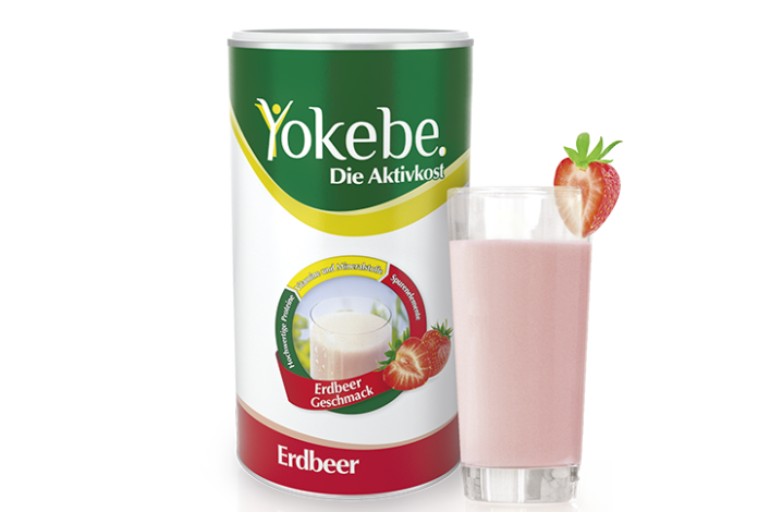 Yokebe Erdbeer mit Glas