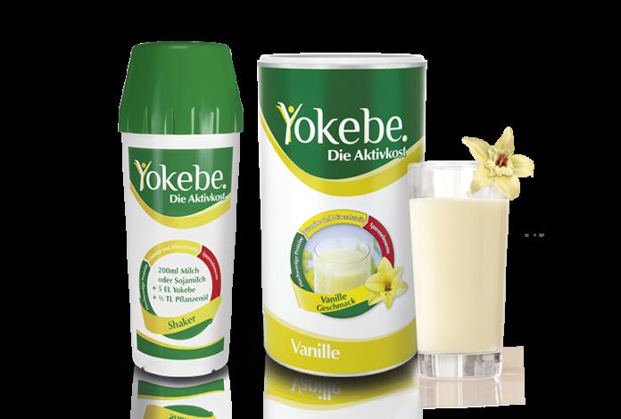 Yokebe Vanille mit Shaker und Glas