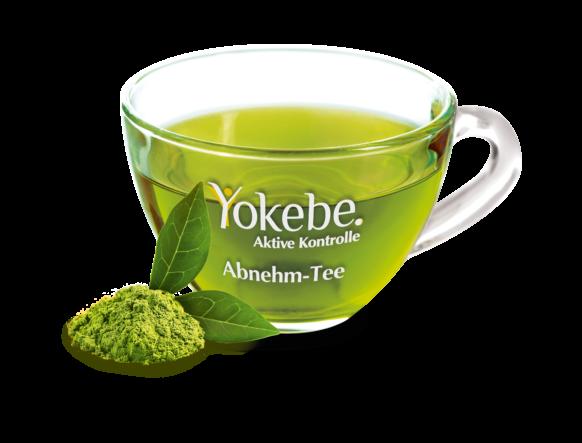 Yokebe Abnehm-Tee mit Tasse und Ingredients